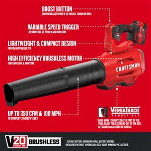 CRAFTSMAN 20 V MAX Axial Blower
