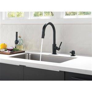 DELTA Trask Matte Black 1-Handle Pull-down Kitchen Faucet
