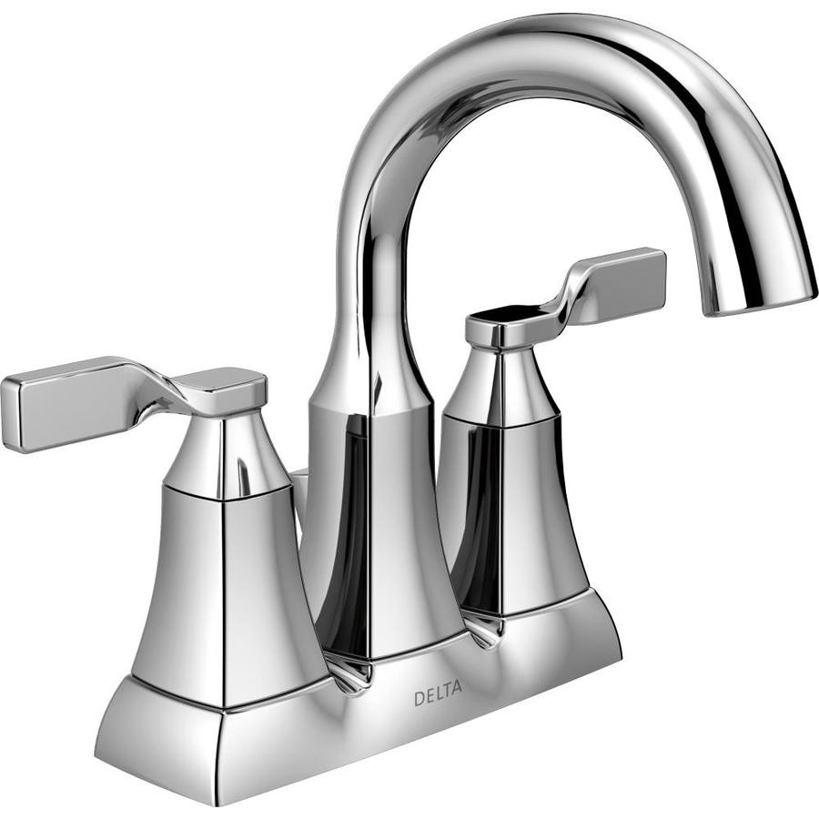 Delta Sawyer Chrome 2 Handle 4 In Centerset Watersense Bathroom Sink Faucet With Drain Valve Included Lowe S Canada