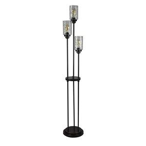 Allen Roth Latchbury 66 55 In Bronze Casual Transitional Standard Multi Head Indoor Floor Lamp