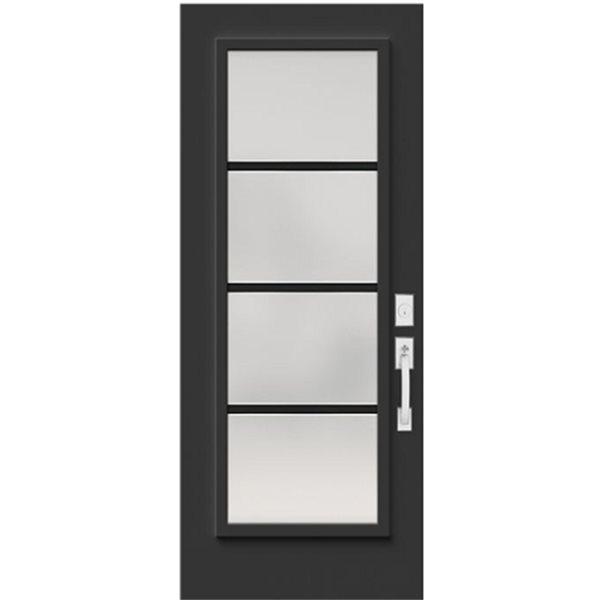 Frosted Glass Steel Entry Door, Glass Panel Interior Doors Canada