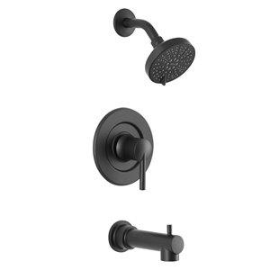 Moen Arlys Matte Black 1-Handle Wall Mount Bathtub Faucet (Valve Included)