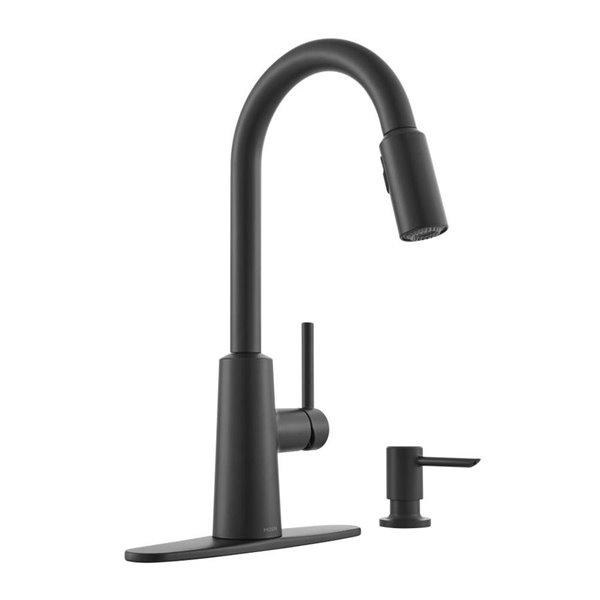 Moen Nori Matte Black 1 Handle Pull Down Kitchen Faucet Lowe S Canada