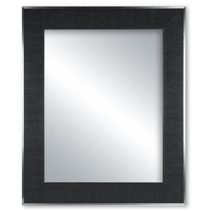 Columbia Frame Black Canvas Mirror