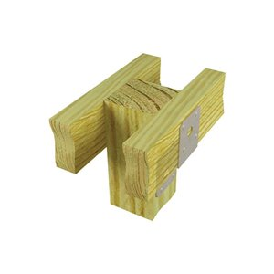 USP 4-in x 4-in Triple Zinc Deck Post Tie