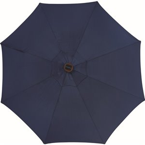 Style Selections 9 Ft Market Umbrella With Solar Led