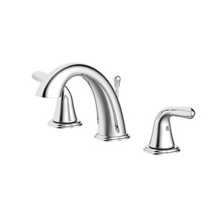 Project Source 2-Handle Widespread Bathroom Sink Faucet Drain Included