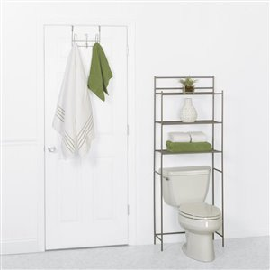 Zenna Home 21.5-in H Steel Nickel Hanging Shower Caddy