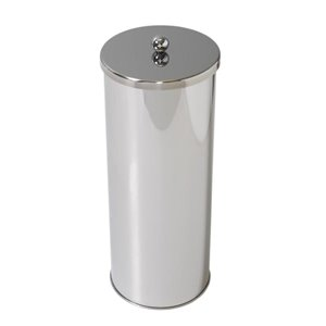 Zenith Zenna Home Toilet Paper Canister, Stainless Steel