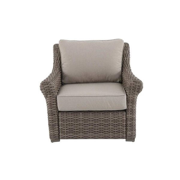 Brown Wicker Patio Furniture.Allen Roth Evandale Brown Wicker Outdoor Patio Chair Set Of 2