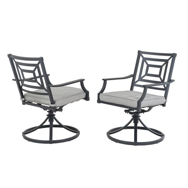 allen + roth 2PC Dining Swivel Chairs L-DN2397SAL-RC