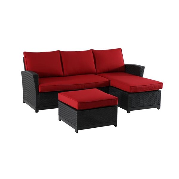 Allen Roth Matheson 3 Piece Sectional, Patio Sectional Replacement Cushions Canada