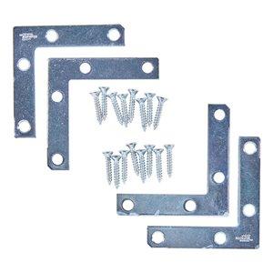 National Hardware N226-712- 117 Corner Braces in Zinc Plated