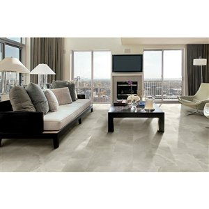 Style Selections 12 In X 24 In Palancia Pearl Porcelain