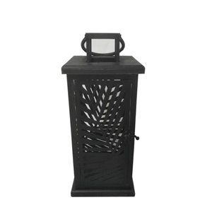19-in Black Metal Outdoor Lantern