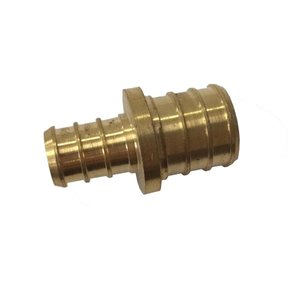 3/4-in x 1/2-in Dia. Brass PEX Barb Coupling Fitting