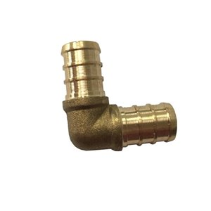 1/2-in Dia. 90-Degree Brass PEX Barb Elbow Fitting