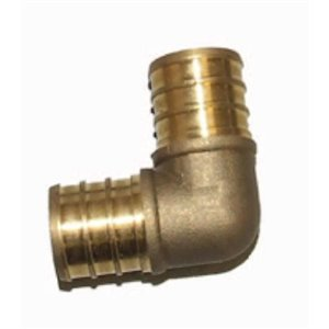 3/4-in Dia. 90-Degree Brass PEX Barb Elbow Fitting