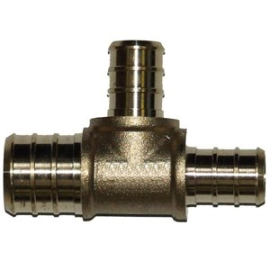 3/4-in x 1/2-in x 1/2-in Dia. Brass PEX Brab Tee Pipe Fitting