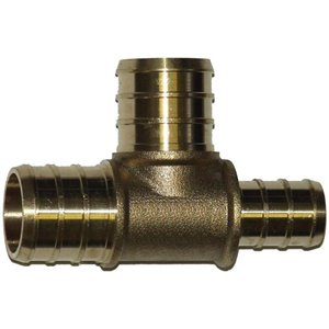 3/4-in x 1/2-in x 3/4-in Dia. Brass PEX Barb Tee Fitting