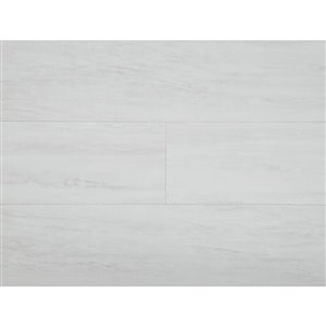 STAINMASTER 1-Piece 6-in x 24-in Groutable White Waza Peel-And-Stick Travertine Vinyl Tile