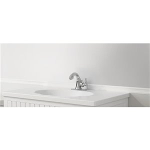 American Standard Chancellor Chrome 1-Handle Single Hole 4-in Centerset WaterSense Bathroom Sink Faucet with Drain (Valve Included)