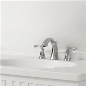 American Standard Chancellor Chrome 2-Handle Widespread WaterSense Bathroom Sink Faucet with Drain (Valve Included)