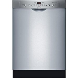 Bosch Ascenta 24-in 50-Decibel Built-in Dishwasher with Front Controls (Stainless Steel) ENERGY STAR