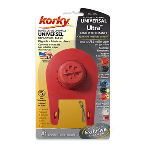 2-in Dia. Korky Universal Ultra High Performance Flapper