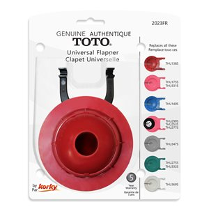 3-in Dia. Korky Rubber Toilet Flapper - For ToTo