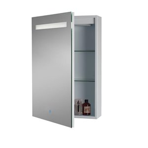 Moorefield LED Series 19.6-in x 27.5-in Rectangle Surface/Recessed Medicine Cabinet with Mirror and Lights (Outlet Included)