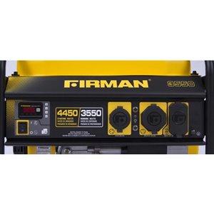 Firman Performance 3550 Watt Portable Generator with Oem Engine