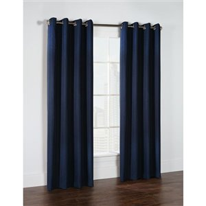 Thermalogic Cambridge Woven Blackout 52in x 95in Navy