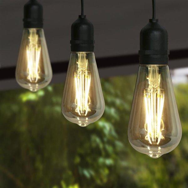 super popular 1e3d2 cc528 Feit Electric Feit LED 30-ft ST19 Vintage 15 Sockets String Lights
