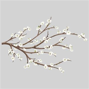 RoomMates White Blossom Branch Wall Decals