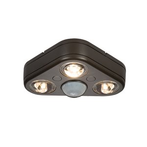 All-Pro 3-Head LED Motion-Activated Flood Light with Timer
