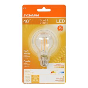 SYLVANIA LED A15 40W Dimmable Soft White 15000 Life Bulb