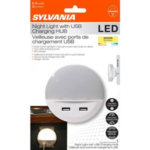 SYLVANIA Nightlight with USB Ports