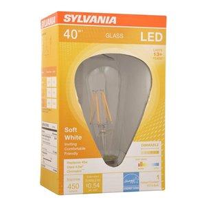 SYLVANIA 40-Watt/450 Lumens Medium Base (E-26) Dimmable St19 LED Light Bulb (1-Pack)