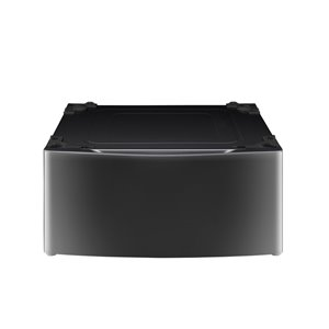 LG 27-in Laundry Pedestal with Storage Drawer (Black Stainless Steel)