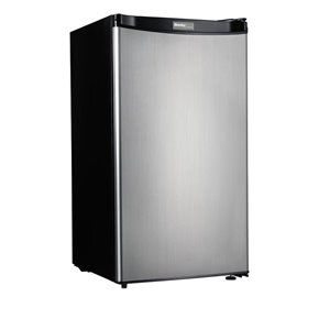 Danby Danby Designer 3.2-cu ft Freestanding Compact Refrigerator with Freezer Compartment (Stainless Steel) ENERGY STAR