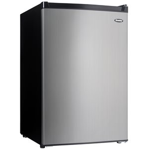 Danby Danby 4.5-cu ft Freestanding Compact Refrigerator with Freezer Compartment (Stainless steel) ENERGY STAR