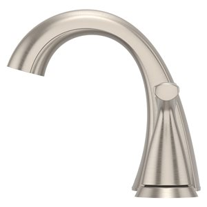 Pfister Masey Brushed Nickel 2-Handle Widespread WaterSense Bathroom Sink Faucet with Drain (Valve Included)