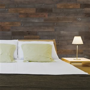 AS-IS BRAND 5-in x 4-ft Raw-ISH Pine Wood Wall Plank