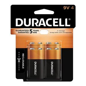 Duracell Coppertop 9V Batteries (4-Pack)