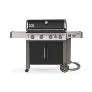 Weber Genesis II E-435 4-Burner Black Natural Gas Grill with Side Burner