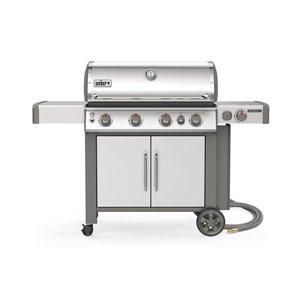 Weber Genesis II S-435 4-Burner Stainless Steel Natural Gas Grill with Side Burner
