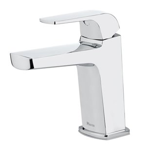 Pfister Leen Polished Chrome 1-Handle Single Hole 4-in Centerset WaterSense Bathroom Sink Faucet with Drain (Valve Included)