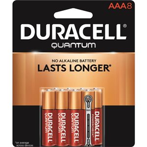 Duracell Quantum AAA Alkaline Battery (8-Pack)