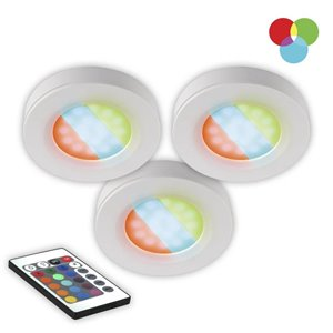 BAZZ LED 3-Pack 2.75-in Plug-in Puck light